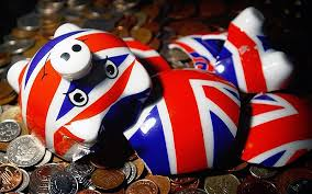 broken union flag piggy bak